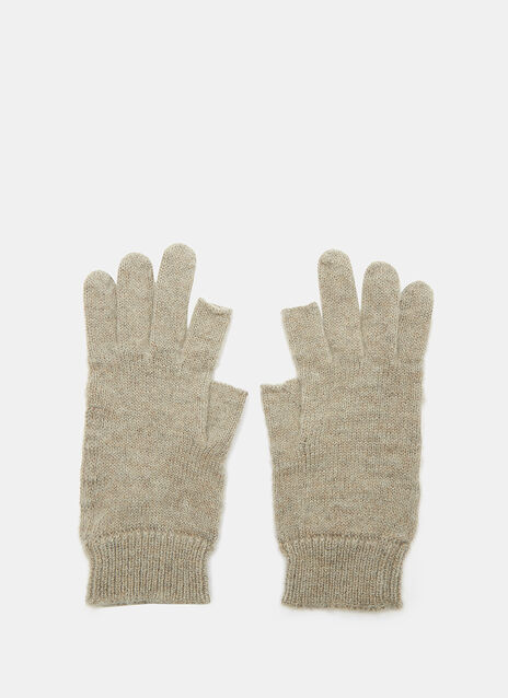 Cut-Off Thumb and Index Knit Gloves