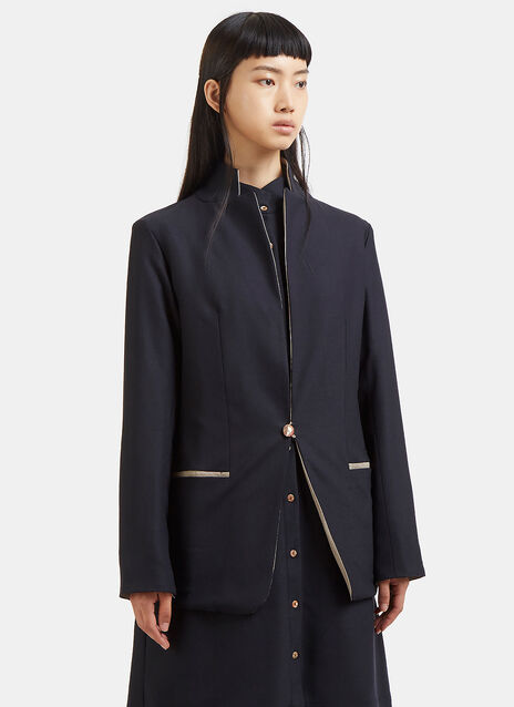 Marvielab Contrast Collared Blazer Jacket