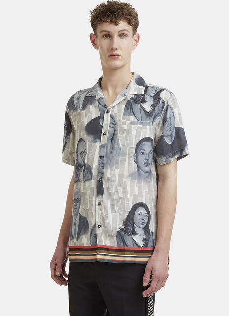 Lanvin Short Sleeve Tourist Bowling Shirt