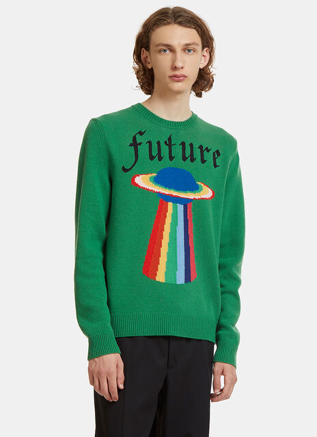 Future Planet Intarsia Knit Sweater