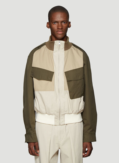 JW앤더슨 JW Anderson Colour Block Bomber Jacket in Green