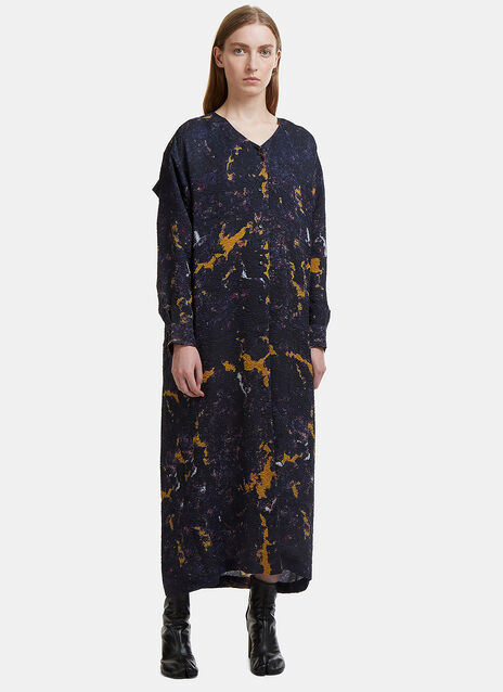 Anntian Oversized Shawley Shirt Dress