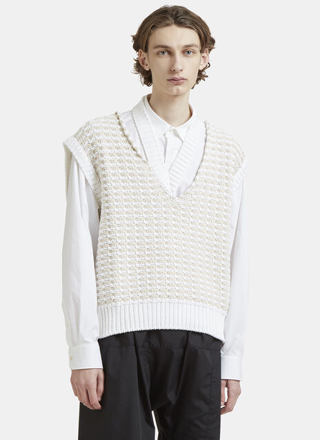 Raf Simons Sleeveless V-Neck Knit Sweater