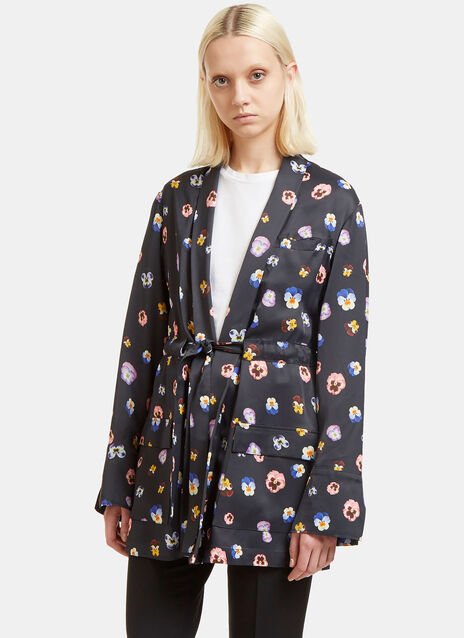 Pansy Print Evening Jacket