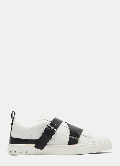 Buckled Strap Stud Sneakers