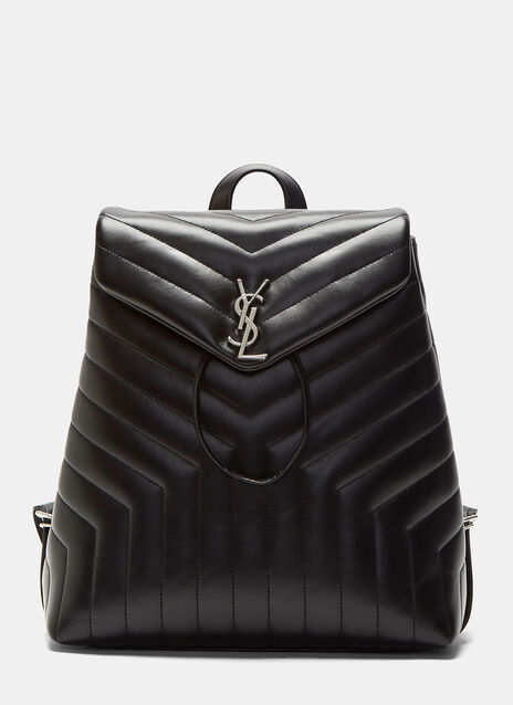 Monogrammed Matelassé Backpack