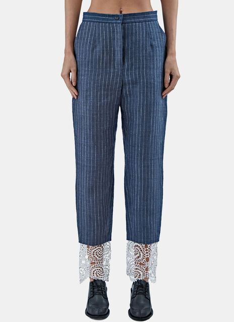 Striped Gangster Suit Pants