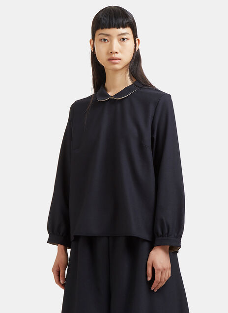 Marvielab Peter Pan Collared Top