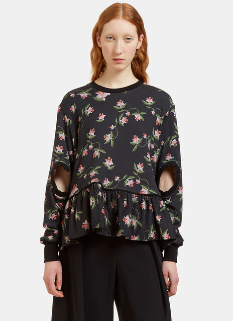 Kia Daffodil Print Cut-Out Sweater