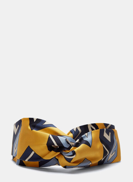 GG Wallpaper Print Silk Headband