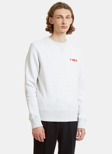 F.AMI.LY Embroidered Crew Neck Sweater