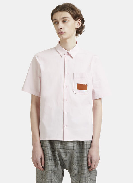 Raf Simons Short Sleeve Pocket Embroidered Shirt