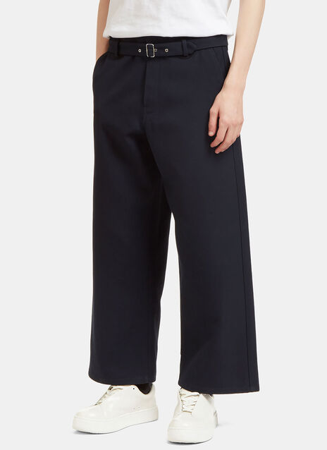 Agden H Cropped Twill Pants