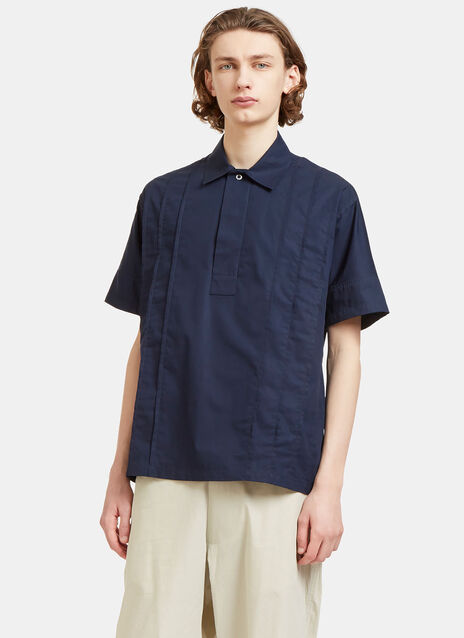 Val Pleated Short Sleeved Shirt