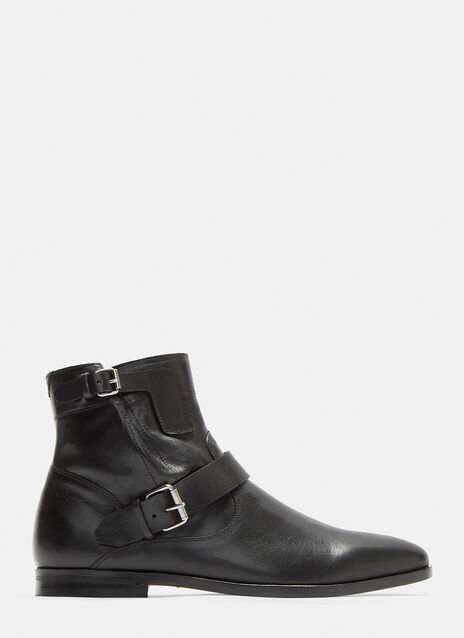 Saint Laurent Strapped Buckle Ankle Boots