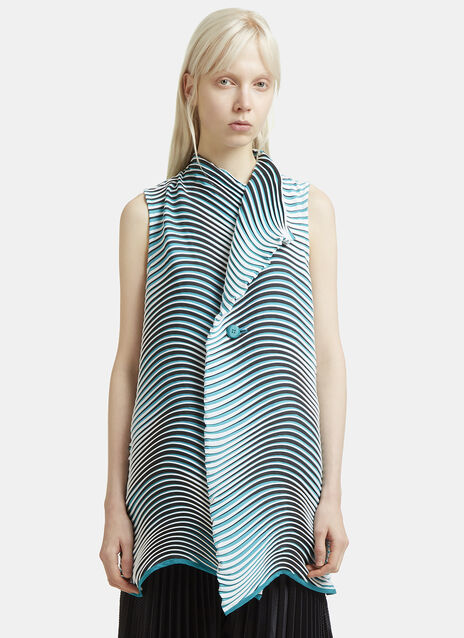 Issey Miyake Structural Sleeveless Flow Vest