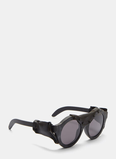 Mask A2 Leather Stapled Sunglasses