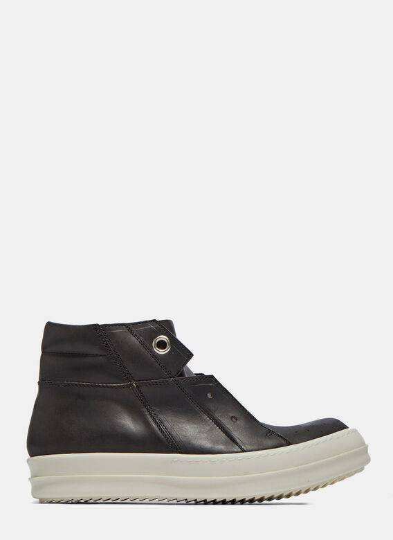 Rick Owens Island Dunk Pull-On Leather Sneaker