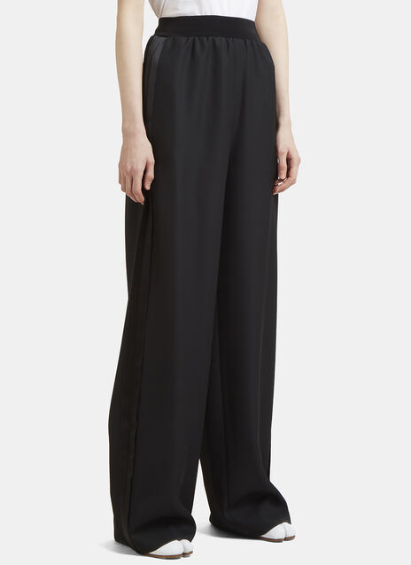 Maison Margiela Long Flared Tuxedo Stripe Pants