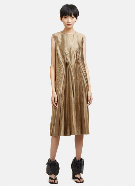 Maison Margiela Pleated Lurex Dress