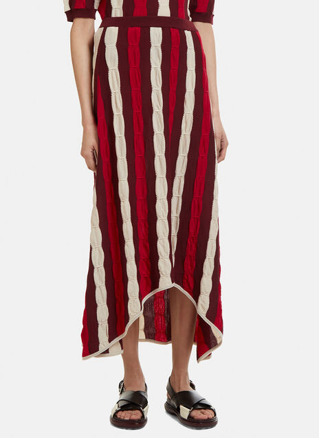 Marni Striped Knit Skirt