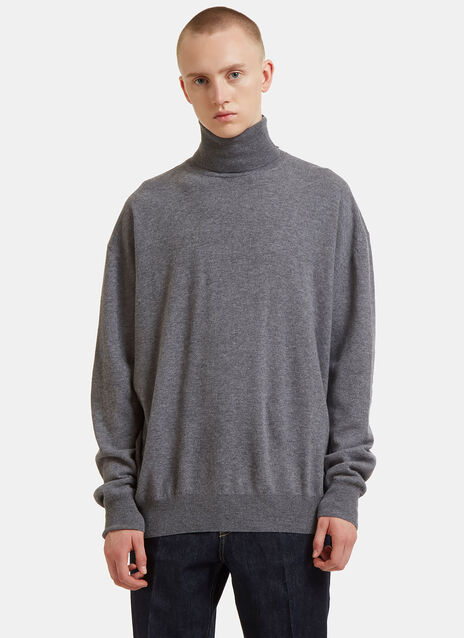Oversized Contrast Roll Neck Sweater