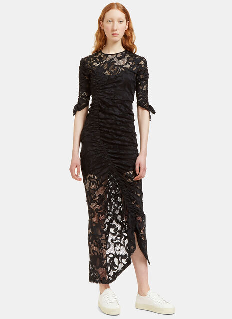 Georgia Ruched Lace Dress
