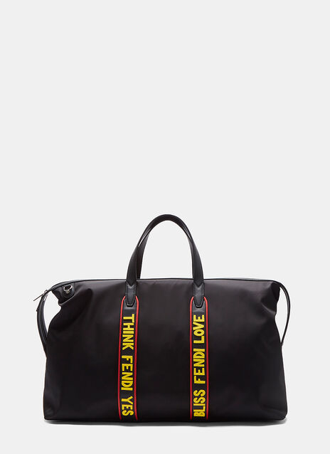 Large Slogan Duffle Bag