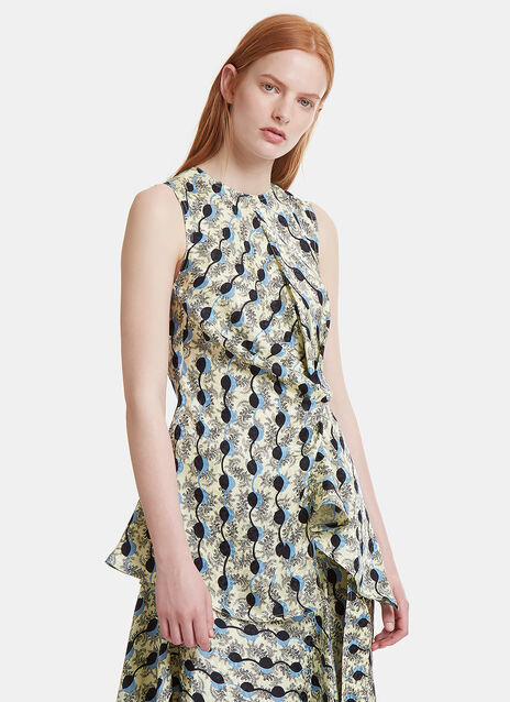 Twisted Knot Jacquard Top