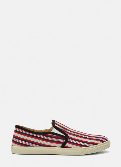 Woven Stripe Slip-On Sneakers