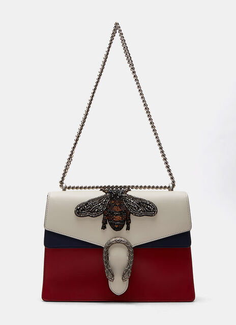 Dionysus Crystal Embellished Bee Crossbody Bag