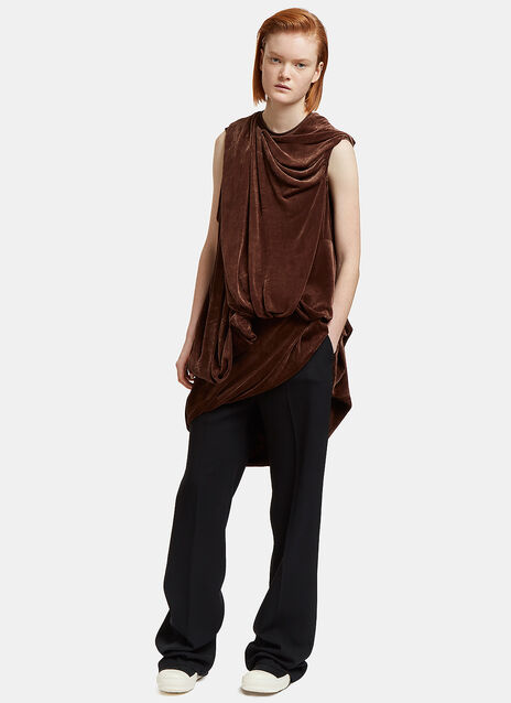 Long Velvet Draped Bundle Top