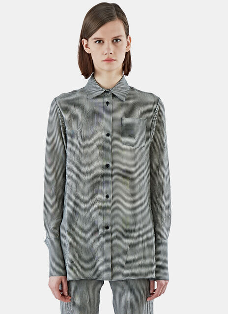 Gingham Checked Soft Dress Shirt