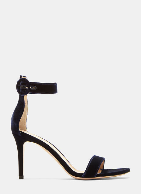 Portofino 85 Velvet Heeled Sandals
