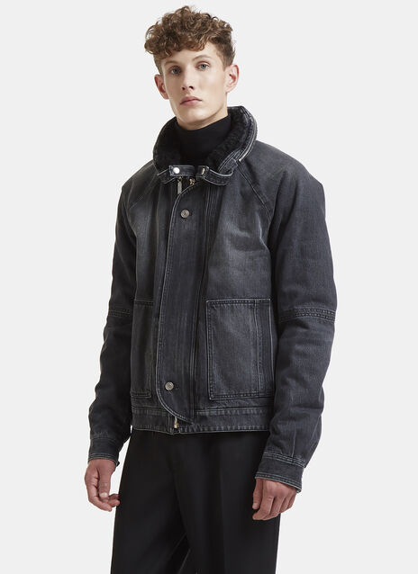 Saint Laurent Slouchy Denim Parka Jacket