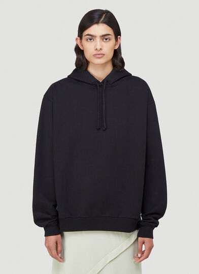 아크네 스튜디오 Acne Studios Contrast-Panel Hooded Sweatshirt in Black