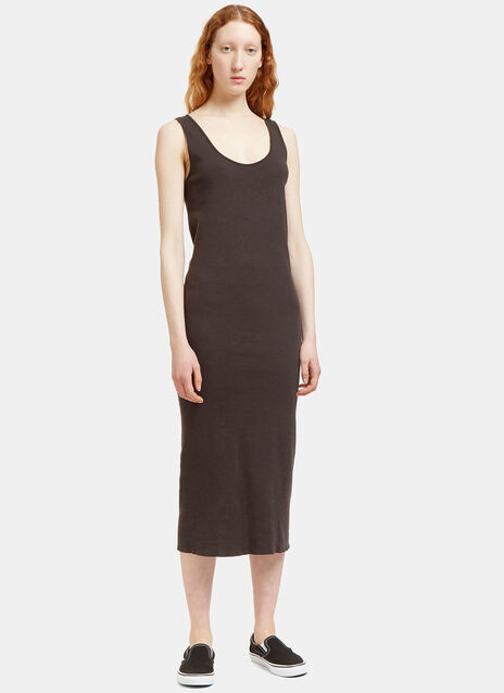 Mid-Length Scoop Neck Dress