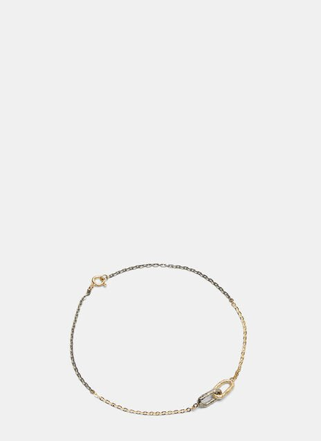 Double Link Two-Tone Chain Bracelet