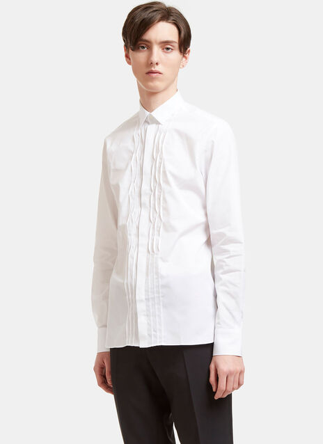 Plissé Placket Poplin Shirt