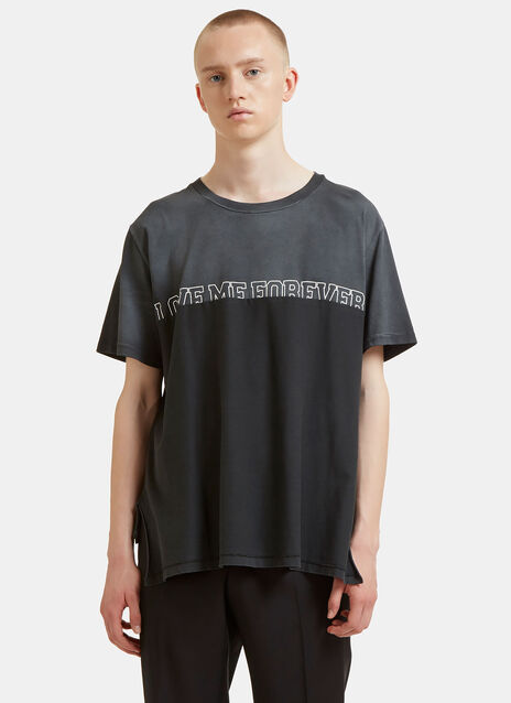 Oversized Love Me Forever Overlapped T-Shirt