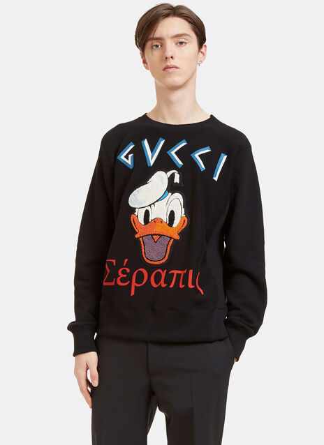Donald Duck Embroidered Appliqué Sweater