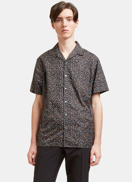 Printed Short Sleeved Bowling Shirt