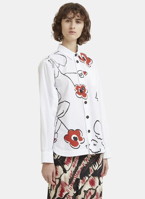 Marni Oversized Flower Print Shirt