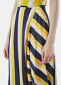 Long Asymmetric Striped Skirt