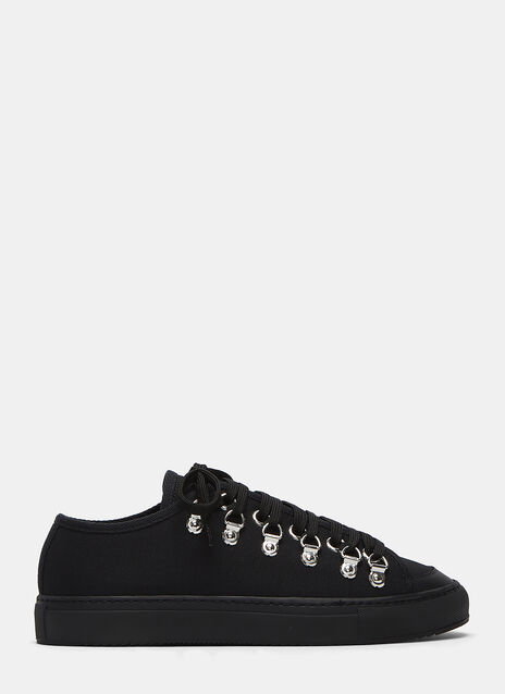 Metal Eyelet Low-Top Sneakers