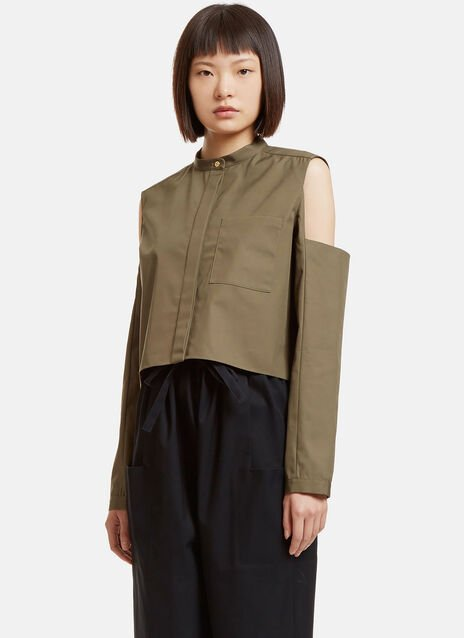 Boxy Cut-Out Shirt