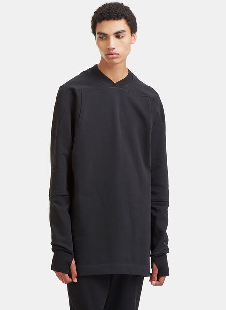 Oversized Taped Grosgrain Three Stripe Sweater