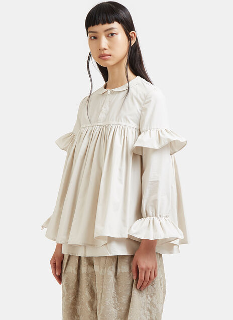 Oversized Double-Layered Frilled Top