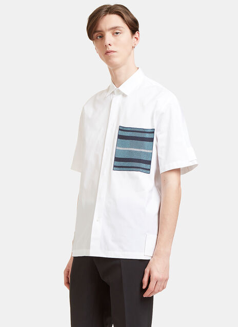 Woven Patch Pocket Short Sleeved Shirt