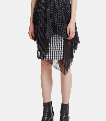 Triple Layered Pleat Skirt